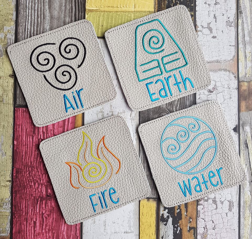 Elements Coaster set of 4 (4x4)