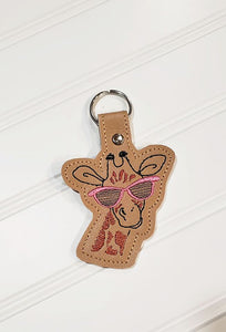 Giraffe Glasses Snap tab 4x4