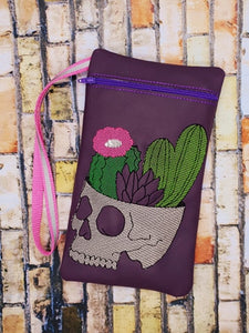 Cactus Skull In the Hoop Bag 4 sizes available DIGITAL DOWNLOAD