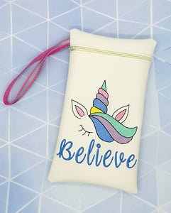 Unicorn Believe in the hoop bag DIGITAL DOWNLOAD 5 sizes available