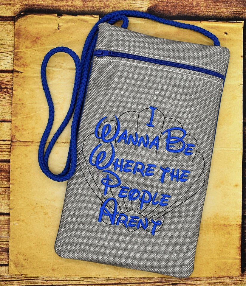 Where the People Aren't in the hoop bag DIGITAL DOWNLOAD 4 sizes available