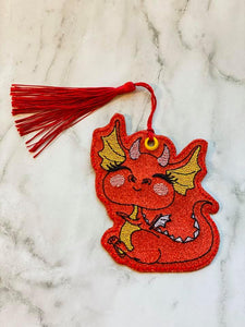 Dragon Bookmark/Ornament 4x4 DIGITAL DOWNLOAD