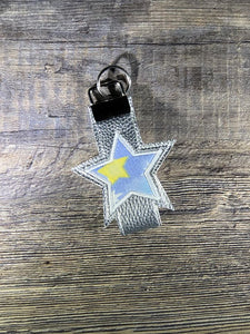 Star Applique Key fob 5x7 & 6x10 sizes included DIGITAL DOWNLOAD