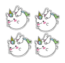 Load image into Gallery viewer, Fat Unicorn Feltie (single & multi included) DIGITAL DOWNLOAD