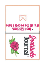 Load image into Gallery viewer, Gratitude List notebook cover (2 sizes available) DIGITAL DOWNLOAD
