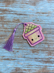 Succulent Applique Bookmark 4x4 DIGITAL DOWNLOAD