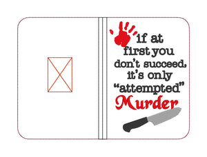 Attempted Murder notebook cover (2 sizes available) DIGITAL DOWNLOAD