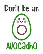 Load image into Gallery viewer, AvocadHo Applique Embroidery design (5 sizes included) DIGITAL DOWNLOAD