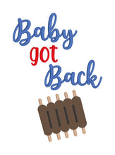 Load image into Gallery viewer, Baby got Back embroidery design (4 sizes included) DIGITAL DOWNLOAD