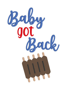 Baby got Back embroidery design (4 sizes included) DIGITAL DOWNLOAD