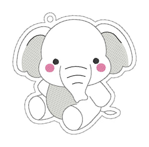 Cute Elephant Bookmark/Ornament embroidery design DIGITAL DOWNLOAD