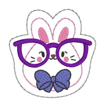 Load image into Gallery viewer, Glasses Bunny feltie (single & multi included) DIGITAL DOWNLOAD