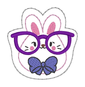 Glasses Bunny feltie (single & multi included) DIGITAL DOWNLOAD
