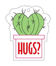Load image into Gallery viewer, Heart Cacti Bookmark  DIGITAL DOWNLOAD