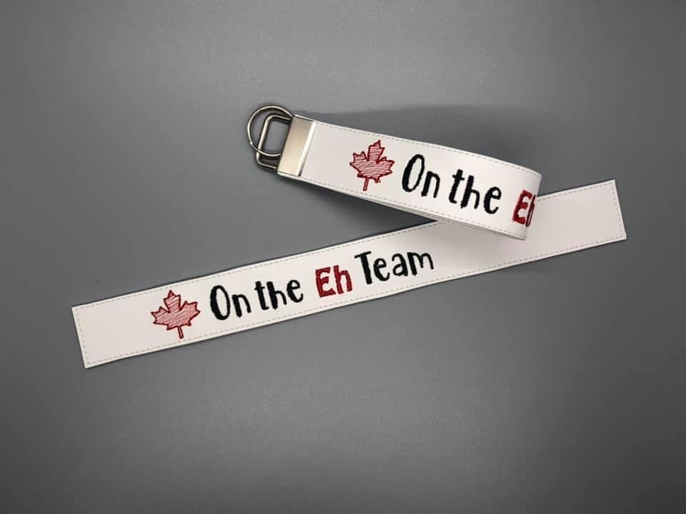 On the Eh team key fob 5x7 & 6x10 sizes included DIGITAL DOWNLOAD