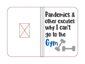 Pandemics & other excuses notebook cover (2 sizes available) DIGITAL DOWNLOAD