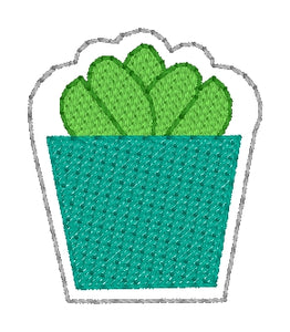 Plant Feltie embroidery design (single & multi file included) DIGITAL DOWNLOAD