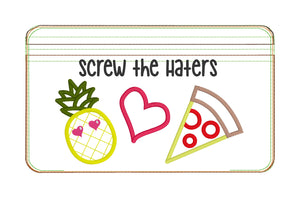 Screw the Haters applique ITH Bag (3 sizes available) DIGITAL DOWNLOAD