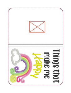 Things that make me happy applique notebook cover (2 sizes available) DIGITAL DOWNLOAD