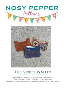 Nickel Wallet Cutting files --Digital File