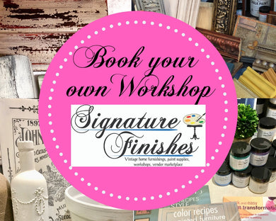 Private Party Workshop at Signature Finishes