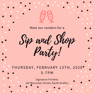Sip and Shop Party! R.S.V.P. Now!