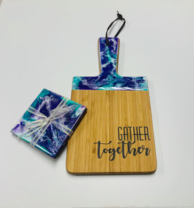 Resin Art Workshop - Cheeseboard and Coaster Set