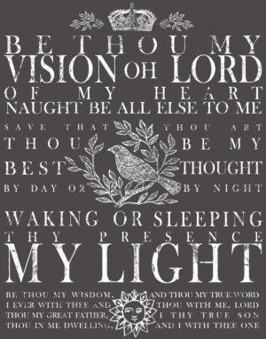 BE THOU MY VISION 11X14 DECOR TRANSFER™