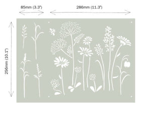ANNIE SLOAN STENCIL MEADOW FLOWER