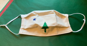 AMF Creations- State Maine Flag mask