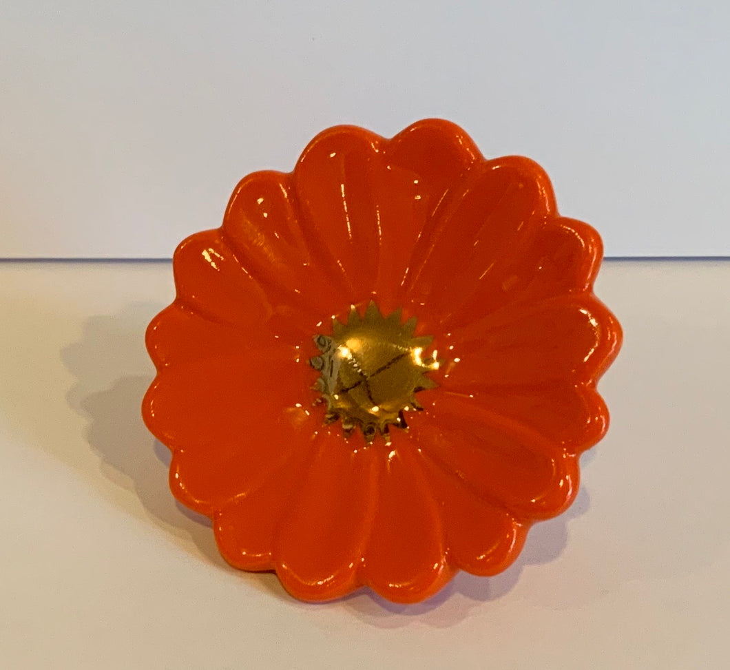 Nora Fleming Minis- Orange Flower (#248)