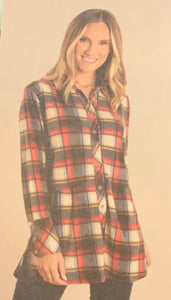 Simply Noelle-Plaid Button Top S/M