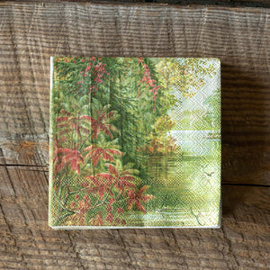 Fall Lake Beverage Napkin