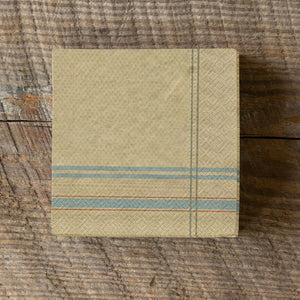 French Stripe Beverage Napkin