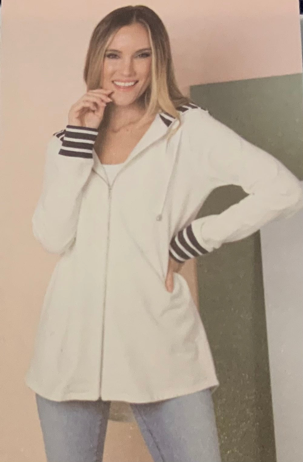Simply Noelle Jacket with Striped Hood