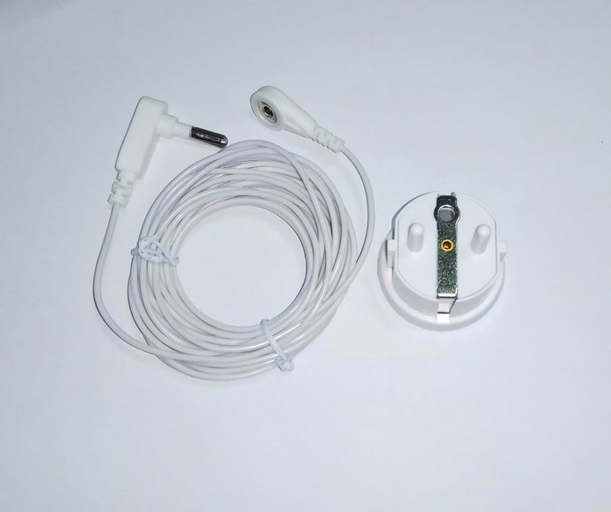 Earthing EU Socket plug with grounding cord for Earthing sheet /  pillow case / earthing mat