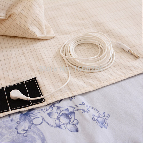 Conductive Earthing Half sheet To Improve Sleep Quality Organic Cotton Silver fiber
