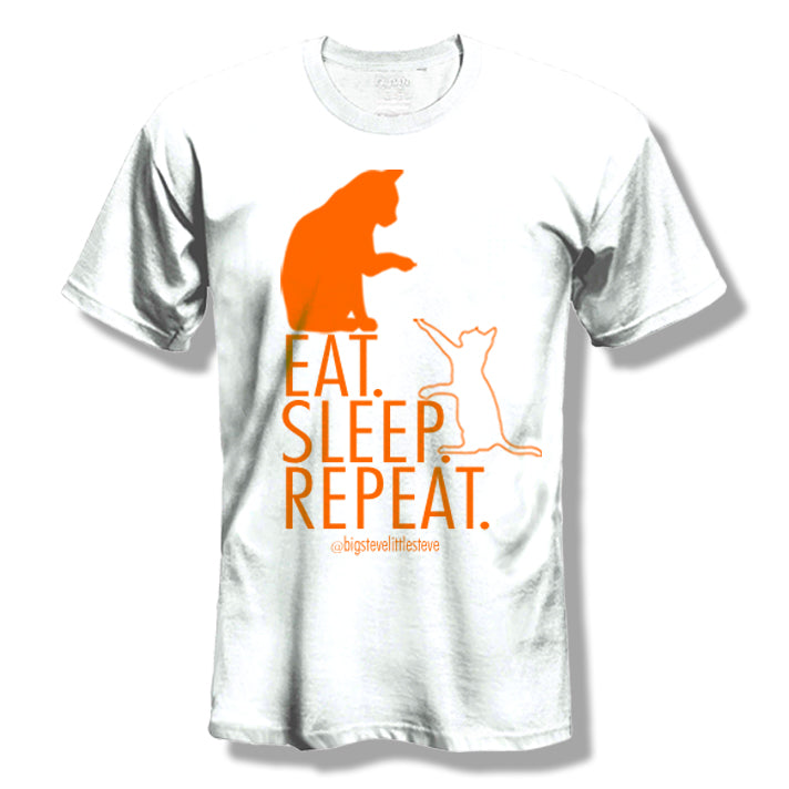 "Big Steve & Little Steve ""Eat Sleep Repeat"" T-Shirt"