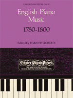 English Piano Music, 1780-1800, Piano, Timothy Roberts