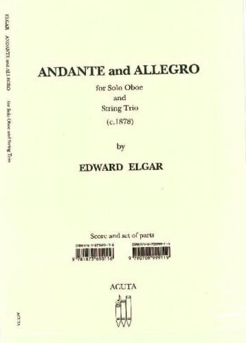 Andante & Allegro for Oboe & String Trio Set of Parts and Score