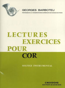 Barboteu: Lectures-Exercices pour Cor (Horn In F Solo)
