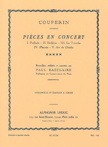 Pièces en Concert for Cello and String Ensemble (Score & Parts)