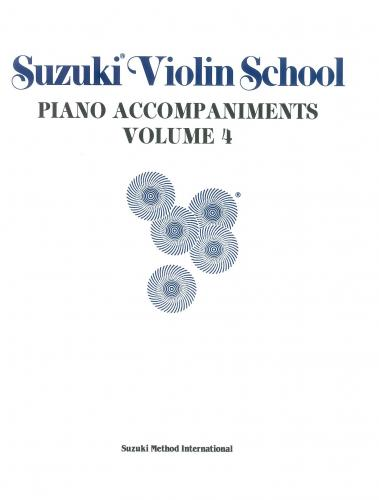 Suzuki Violin School - Volume 4 (Piano Accompaniment)