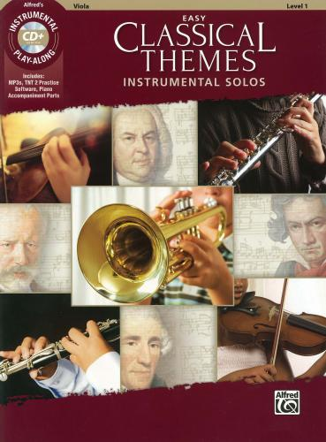 Various:Easy Classical Themes (Instrumental Play-Along) for Viola-Book & CD
