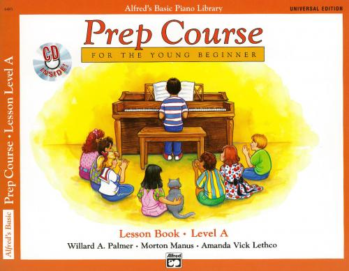 Alfred Prep Course Lesson Book Level A WITH CD INSIDE!