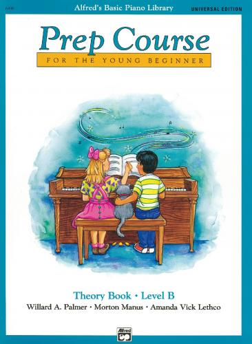 Alfred Prep Course Theory Book Level B (Piano Tutor)