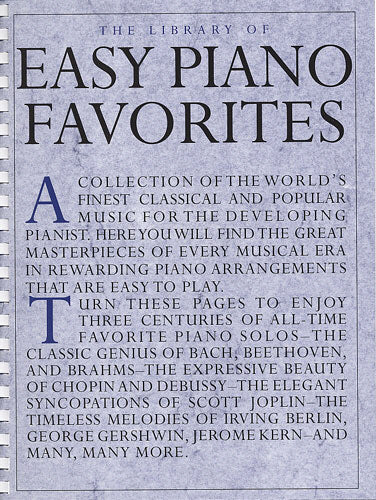 The Library of Easy Piano Favourites