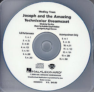 Lloyd Webber: Joseph and the Amazing Technicolor Dreamcoat (Showtrax CD)
