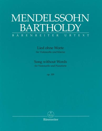 Lied ohne Worte Op.109 for Cello & Piano