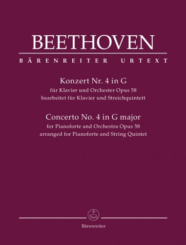 Concerto for Pianoforte and Orchestra no. 4 op. 58 Piano & String Quintet